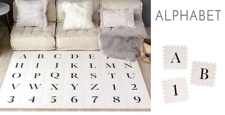 アルファベット柄。alphabet